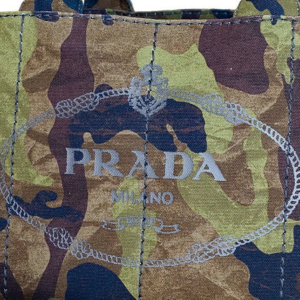 PRADA Totes Camouflage Casual Style Unisex Canvas A4 2WAY Totes 3