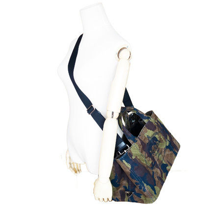 PRADA Totes Camouflage Casual Style Unisex Canvas A4 2WAY Totes 7