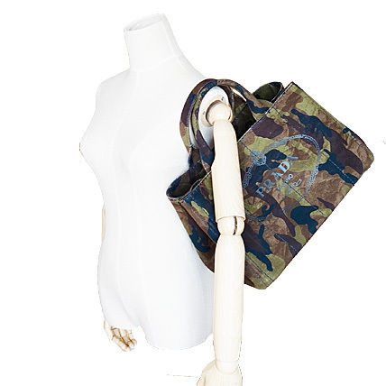 PRADA Totes Camouflage Casual Style Unisex Canvas A4 2WAY Totes 8