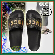 GUCCI Star Leather Shower Shoes Shower Sandals