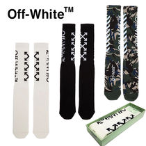 Off-White Camouflage Monogram Blended Fabrics Street Style Cotton
