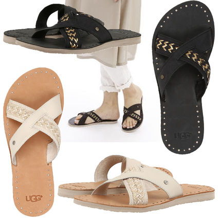 71a8a6a16 UGG Australia 2018 SS Casual Style Plain Leather Sandals by NHT.inc - BUYMA