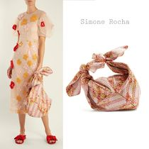 Simone Rocha Flower Patterns Casual Style Totes