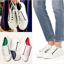 Tory Burch Casual Style Plain Leather Low-Top Sneakers