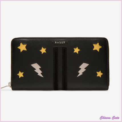 Star Leather Long Wallets