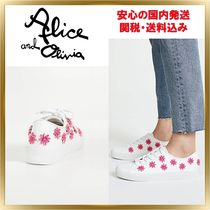 Alice+Olivia Flower Patterns Casual Style Low-Top Sneakers