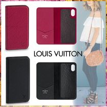 Louis Vuitton EPI Blended Fabrics Bi-color Plain Leather Smart Phone Cases