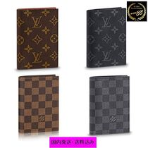 Louis Vuitton Unisex Blended Fabrics Passport Cases