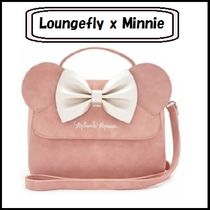 LOUNGE FLY Casual Style Faux Fur Collaboration Handbags
