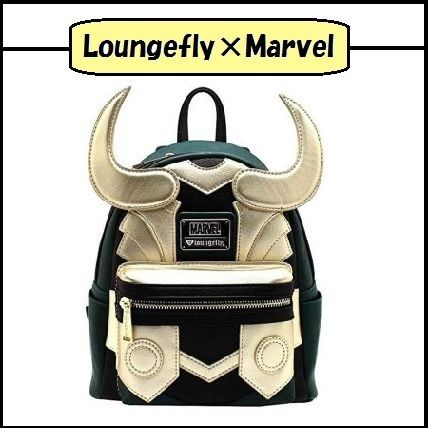 Casual Style Faux Fur Collaboration Backpacks