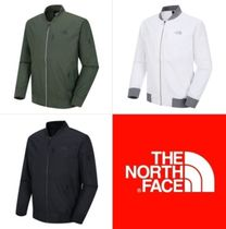 THE NORTH FACE Short Blended Fabrics Street Style Plain Bomber Jackets