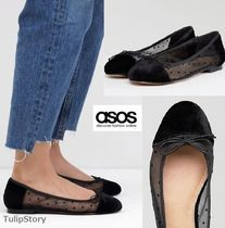 ASOS Dots Round Toe Ballet Shoes