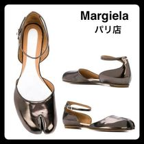 Maison Martin Margiela Monogram Plain Leather Ballet Shoes