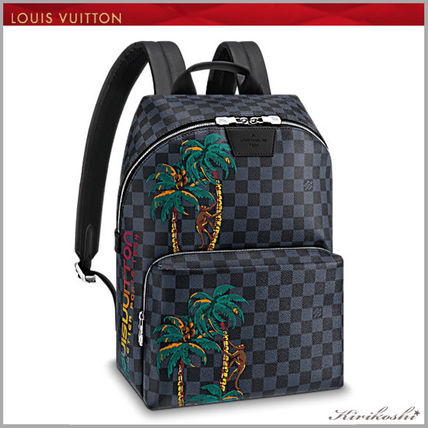 Louis Vuitton Damier Tropical Patterns A4 2way Leather Backpacks