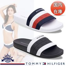 Tommy Hilfiger Stripes Star Open Toe Casual Style Unisex Shower Shoes