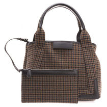 BALENCIAGA CABAS Glen Patterns Elegant Style Totes