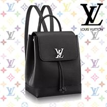Louis Vuitton LOCKME Calfskin 3WAY Plain Backpacks