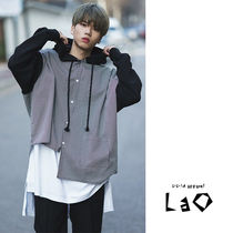 Street Style Bi-color Cotton Oversized Shirts
