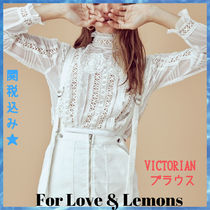 For Love & Lemons Long Sleeves Lace Elegant Style Shirts & Blouses