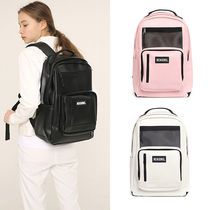 NEIKIDNIS Casual Style Unisex Faux Fur Street Style A4 Plain Backpacks
