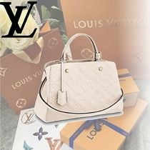 Louis Vuitton MONOGRAM EMPREINTE Monogram Empreinte MONTAIGNE MM Handbags