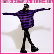 DOLLS KILL Stripes Casual Style Medium Oversized Super-long Sleeves