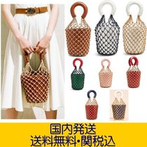 STAUD Casual Style Plain Straw Bags