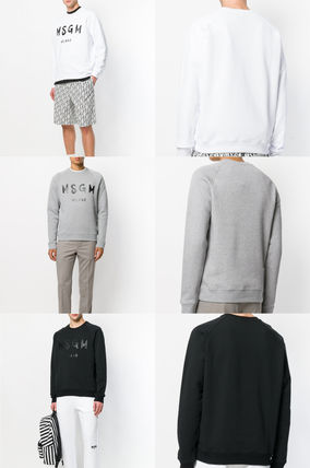 MSGM Sweatshirts Crew Neck Pullovers Sweat Street Style Long Sleeves 2
