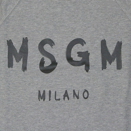 MSGM Sweatshirts Crew Neck Pullovers Sweat Street Style Long Sleeves 4