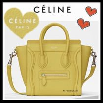 CELINE Luggage Casual Style Calfskin 2WAY Plain Shoulder Bags