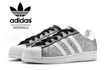 adidas SUPERSTAR Rubber Sole Casual Style Plain Low-Top Sneakers