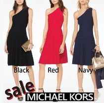 Michael Kors Sleeveless Flared Plain Medium Party Style Dresses
