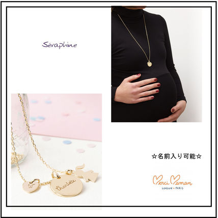 Casual Style Initial Silver 18K Gold Necklaces & Pendants