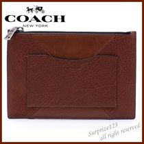 Coach Plain Leather Clutches