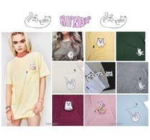 RIPNDIP Crew Neck Street Style Plain Other Animal Patterns Cotton