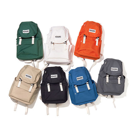 Unisex Nylon Street Style A4 Plain Backpacks