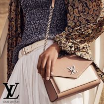 Louis Vuitton MY LOCKME  Calfskin Chain Elegant Style Shoulder Bags
