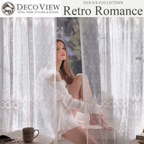 DECO VIEW Flower Patterns Curtains