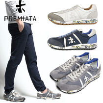 PREMIATA Blended Fabrics Leather Sneakers