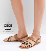 ASOS Leopard Patterns Casual Style Leather Sandals