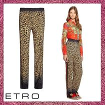 ETRO Printed Pants Casual Style Silk Other Animal Patterns Long
