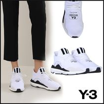 Y-3 Stripes Round Toe Plain Low-Top Sneakers