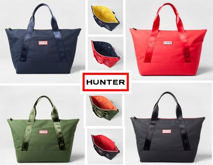 Casual Style Unisex Collaboration Plain PVC Clothing Totes