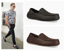UGG Australia Plain Toe Loafers Plain Leather Loafers & Slip-ons