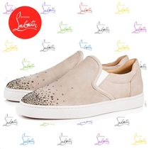 Christian Louboutin Plain Leather Loafers & Slip-ons