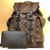 Louis Vuitton MONOGRAM MACASSAR Monogram Canvas Blended Fabrics Street Style A4 2WAY