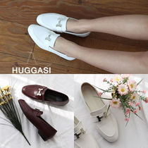 Plain Toe Handmade Office Style Loafer Pumps & Mules