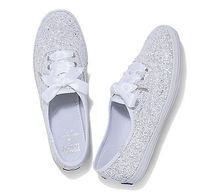 kate spade new york Round Toe Casual Style Blended Fabrics Collaboration Glitter