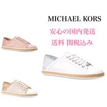 Michael Kors Round Toe Casual Style Plain Low-Top Sneakers