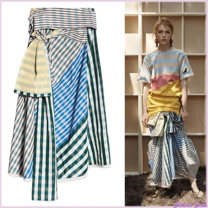 062e959c98 MARNI 2018 SS Other Check Patterns Casual Style Long Maxi Skirts by ...